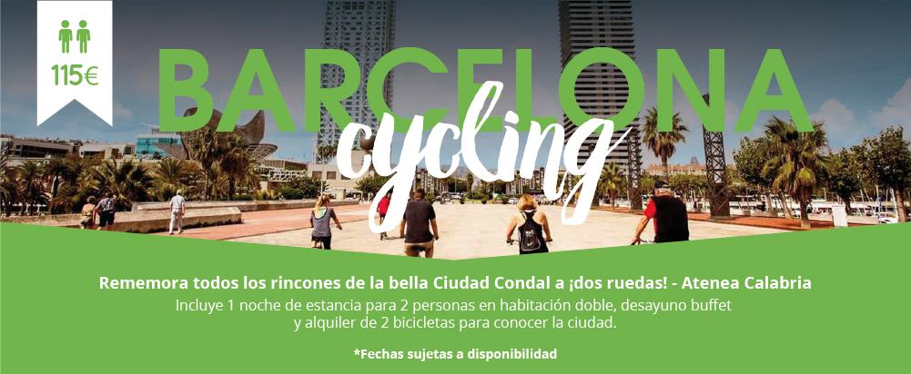 Barcelona bicicleta por el centro ir paseando en bicileta Livingbox CityHotels